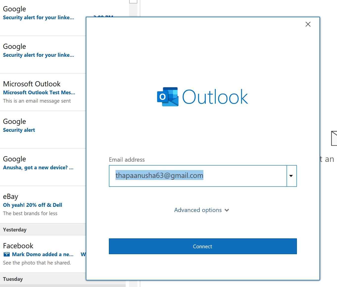 Adding new gmail