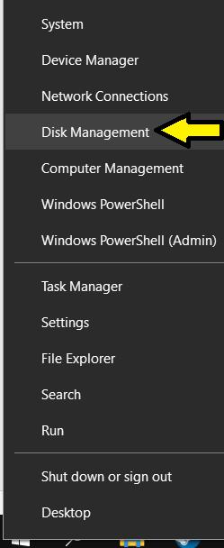 Select Disk Management
